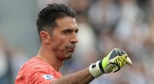 Juventus goalkeeper Buffon matches Maldini appearance record. GOAL