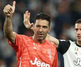 Gianluigi Buffon Merih Demiral Juventus v Verona