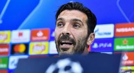 Buffon esulta per la Juve. Goal