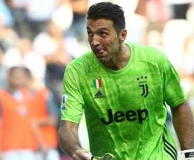 Buffon matches Maldini record