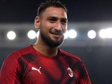 Donnarumma focused on Milan amid transfer rumours. AFP