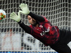 Donnarumma a picture of mature calm amid derby noise. GOAL