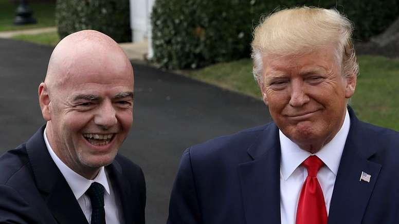 Gianni Infantino and Donald Trump
