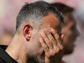 Ryan Giggs cut a dejected figure after Wales' defeat. GOAL