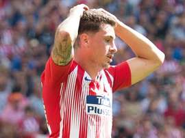 Gimenez pictured as Atletico drew 1-1 against Villarreal on Sunday. GOAL