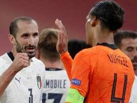Chiellini could teach defending. Goal