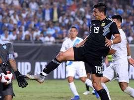 Simeone scored on debut. GOAL