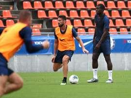 Chelsea - Kurt Zouma loue l'état d'esprit d'Olivier Giroud. AFP