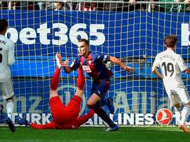 Escalante in goal contro il Real Madrid. Goal