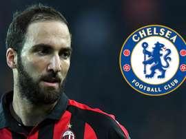 Gonzalo Higuain Milan Chelsea. Goal