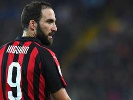 Gonzalo Higuain Milan. Goal