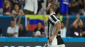 Higuain struck a hat-trick in Juve's friendly against Chieri. GOAL