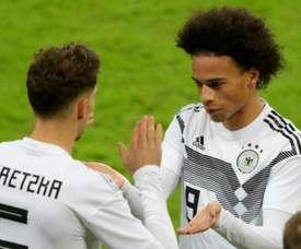 Goretzka would be happy to see Sane at Bayern. GOAL