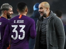 Guardiola's side completed a remarkable comeback against Swansea. GOAL