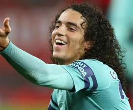 Guendouzi suffered a bizarre foul from United's Fellaini on Wednesday. GOAL