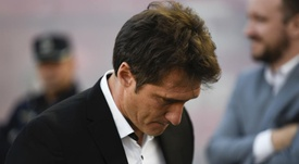 Boca boss Schelotto was lost for words afte his side's defeat. GOAL