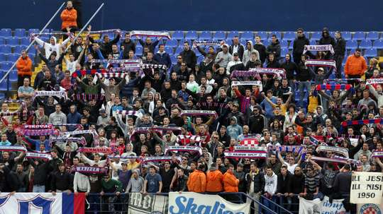 Hajduk Split have been fined and given a stadium ban by UEFA. GOAL
