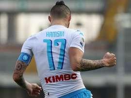 Marek Hamsik celebrating. Goal
