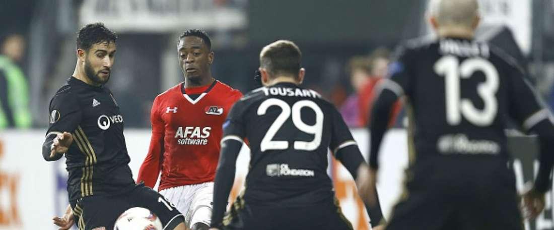 Le latéral gauche de l'AZ Alkmaar Ridgeciano Haps. Goal