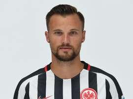 Haris Seferovic, lors de son étape à l'Eintracht Frankfurt. AFP