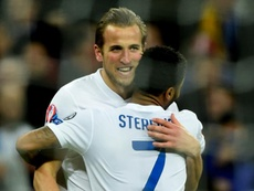 Kane and Sterling pictured in 2016. GOAL