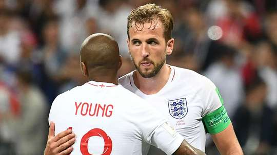 Harry Kane Ashley Young England World Cup. Goal