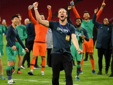 Pochettino has rejected claims Kane led half-time team talk in Amsterdam. GOAL