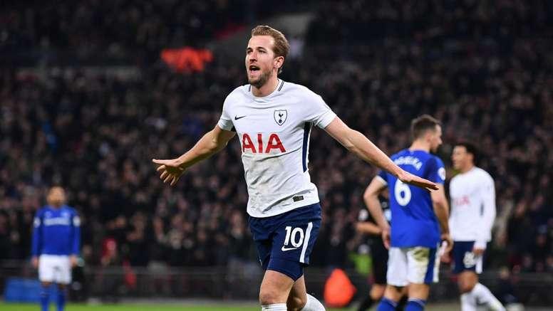 Kane is now Tottenham's highest scorer in the Premier League. GOAL