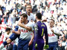 Kane was involved in late drama at Wembley. GOAL