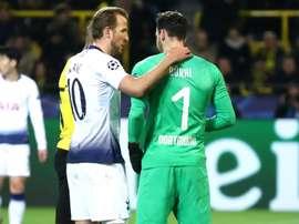 Harry Kane scored the only goal of the game against Dortmund. GOAL
