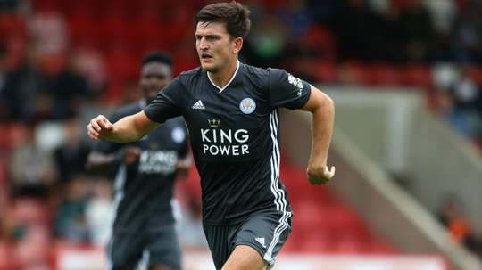 Harry Maguire is still focussed on Leicester despite transfer talk. GOAL