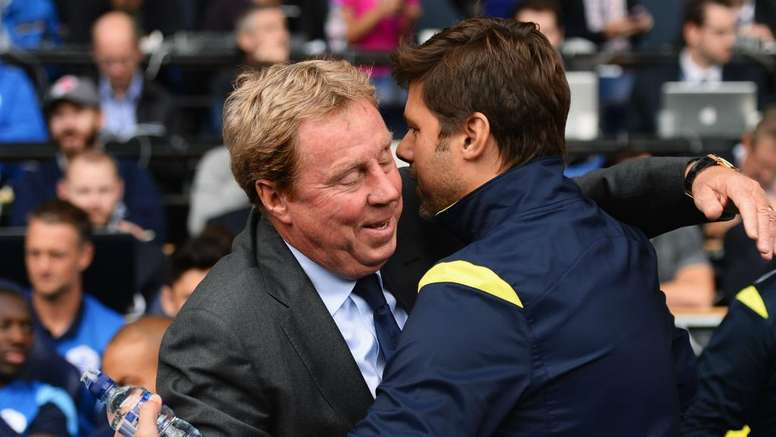 Redknapp (L) says the players are to blame for Pochettino being axed. GOAL