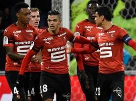 Enfin une victoire pour Rennes. AFP