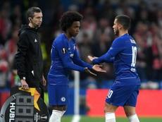 Hazard knock 'nothing serious', hopes Sarri.