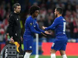 Hazard knock 'nothing serious', hopes Sarri.