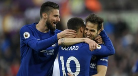 Fabregas is desperate for Hazard to stay at the club. GOAL