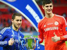 Courtois would relish the chance to play with Hazard at Madrid. GOAL