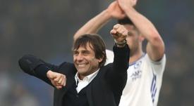 Antonio Conte celebrates Chelsea's win over Crystal Palace. Goal
