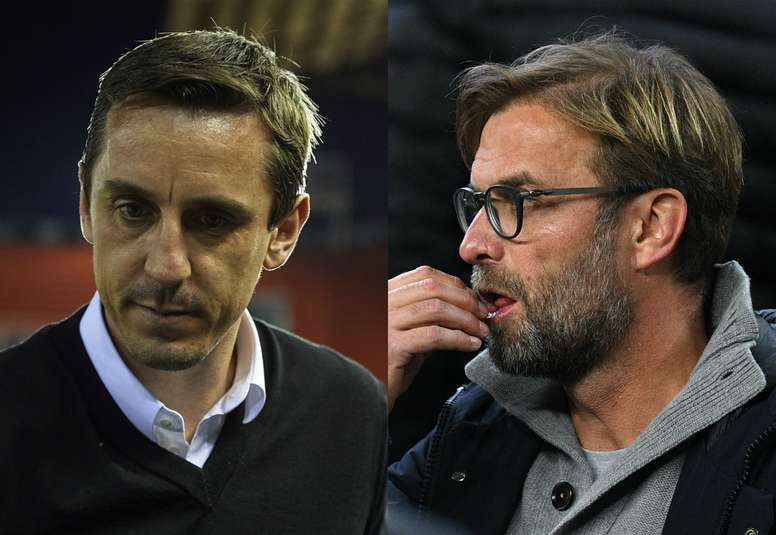 Gary Neville and Jurgen Klopp have been involved in a war of words. Goal