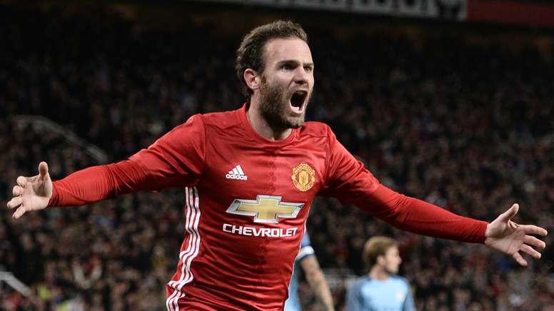 Mata returns to United's starting XI. Goal