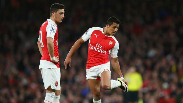 Mesut Ozil and Alexis Sanchez. Goal