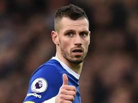 Morgan Schneiderlin, lors d'un match de Premier League avec Everton. AFP
