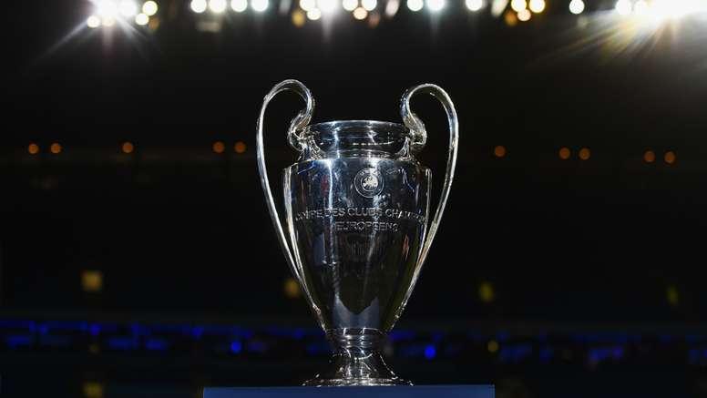 UEFA Champions League Trophy. Goal