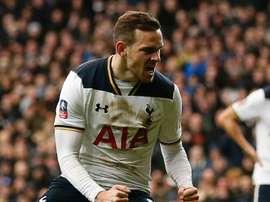 Vincent Janssen aux couleurs de Tottenham. GOAL
