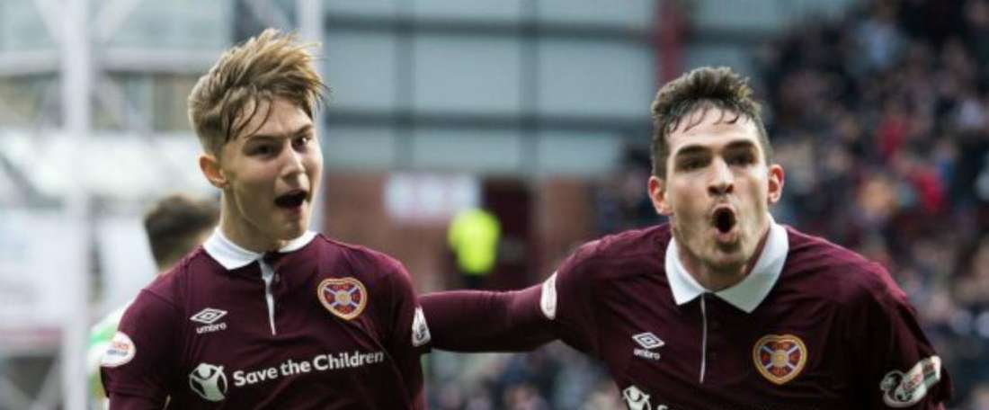 Hearts ended Celtic's run in some style. GOAL