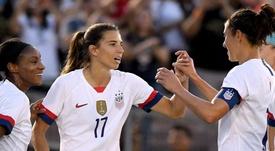 World champions USA won 3-0 against Ireland in a friendly. GOAL