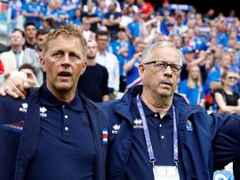"""Técnico da Islândia admite estar """"desapontado"""" com eliminação, mas elogia equipe. Goal"""