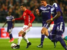 Henrikh Mkhitaryan, Anderlecht - Manchester United. GOAL
