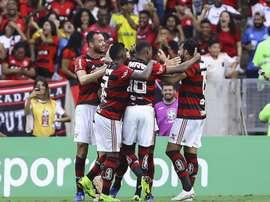Henrique Dourado Flamengo Santos Brasileirão Série A. Goal