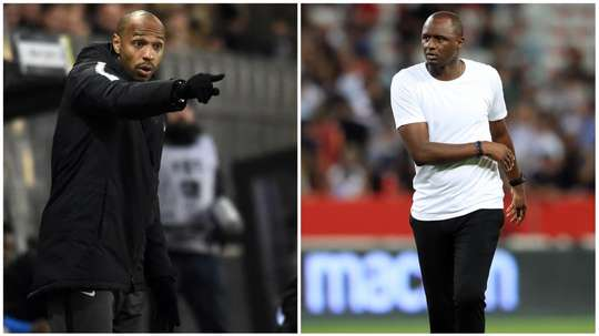 Henry and Vieira were team-mates at Arsenal and France. GOAL